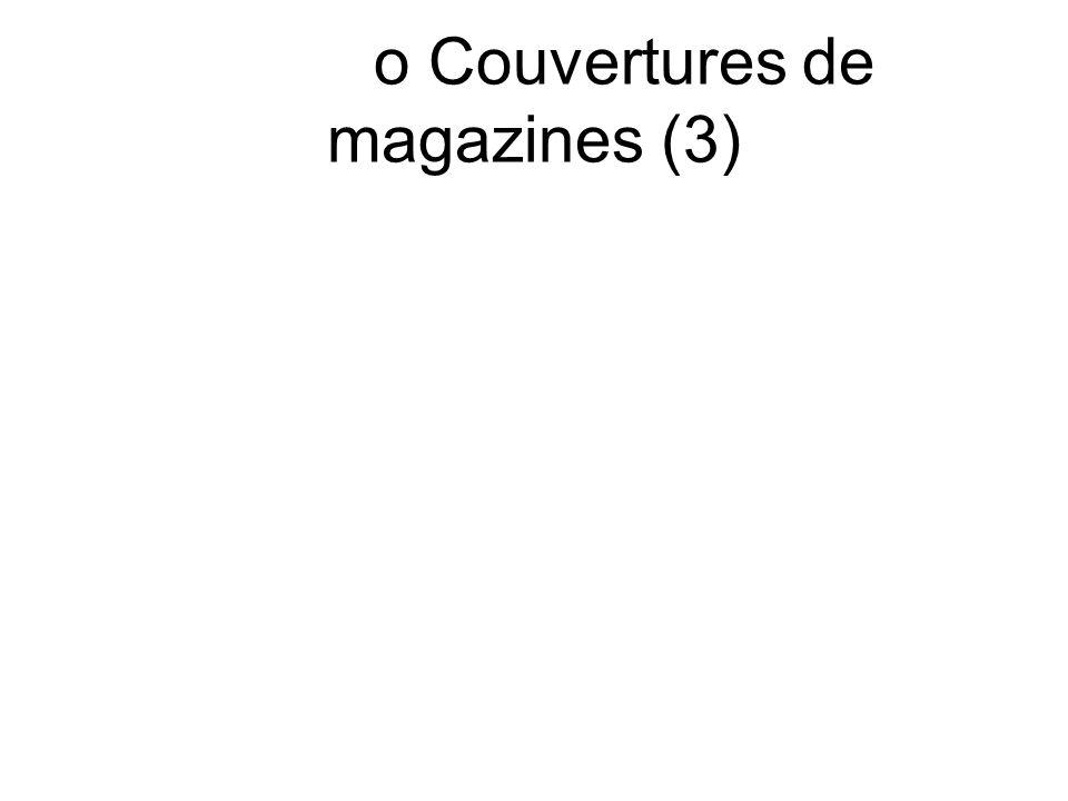 o Couvertures de magazines (3)