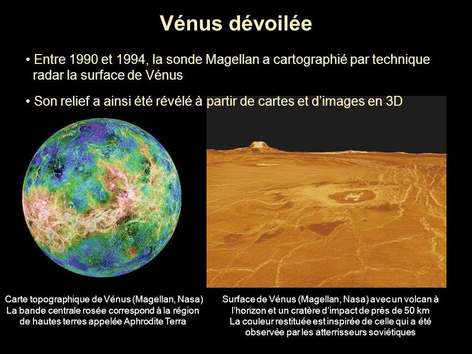 Vénus dévoilée • Entre 1990 et 1994, la sonde Magellan a cartographié par technique. radar la surface de Vénus.