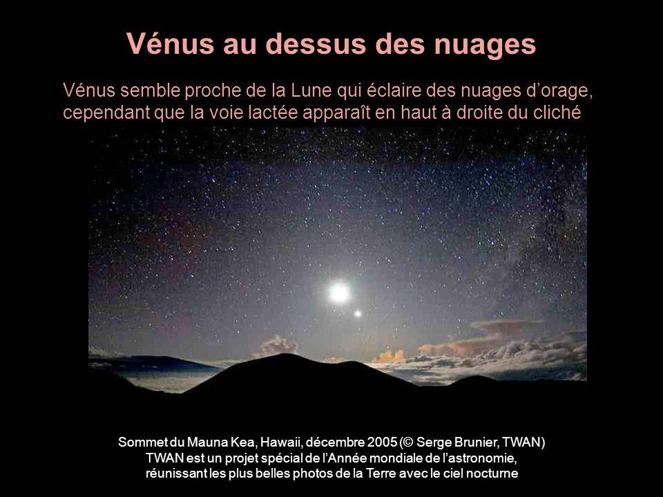 Vénus au dessus des nuages