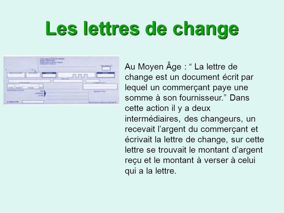 Les lettres de change