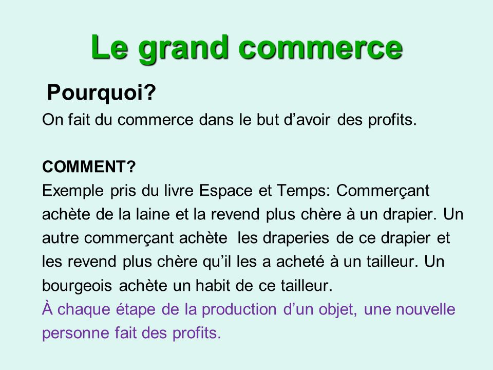 Le grand commerce