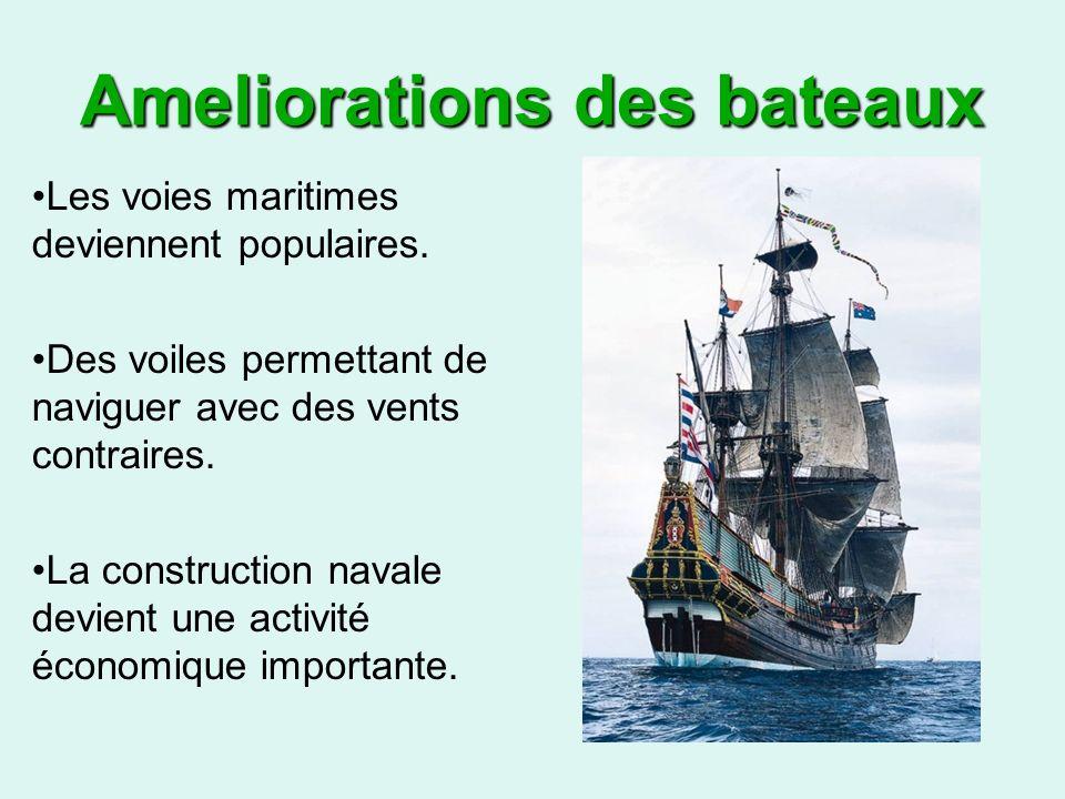 Ameliorations des bateaux