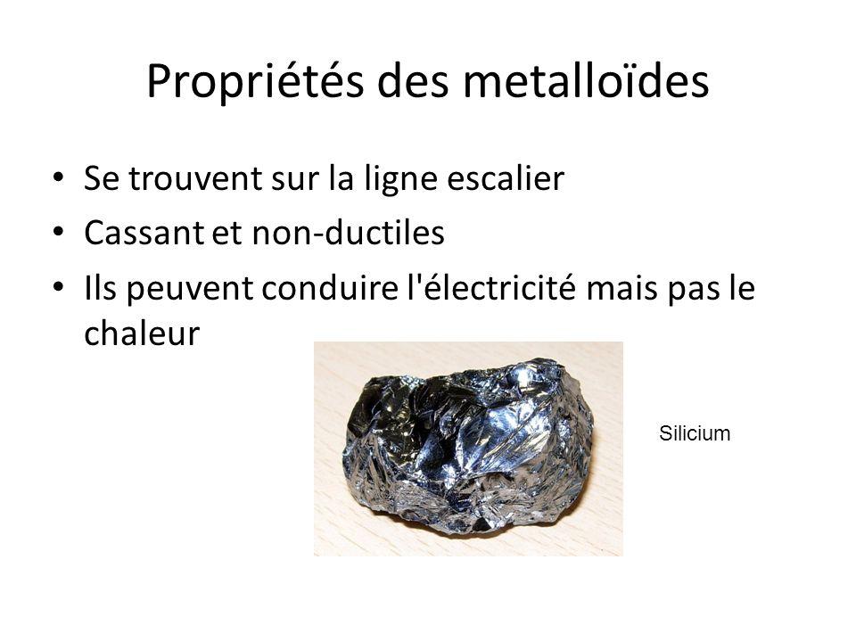 Propriétés des metalloïdes