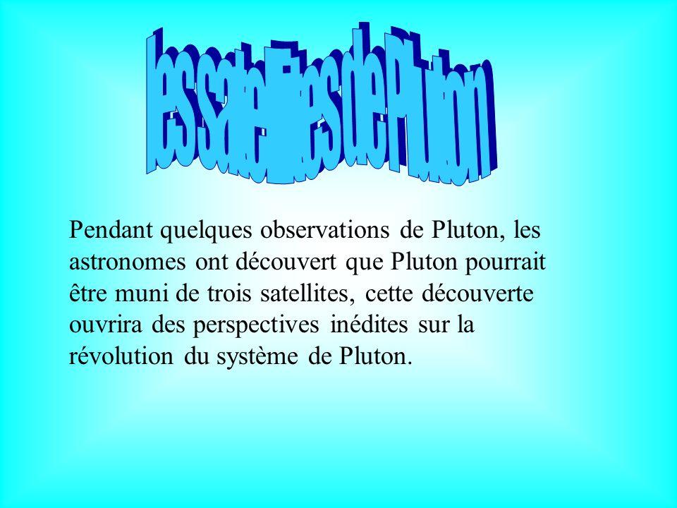 les satellites de Pluton