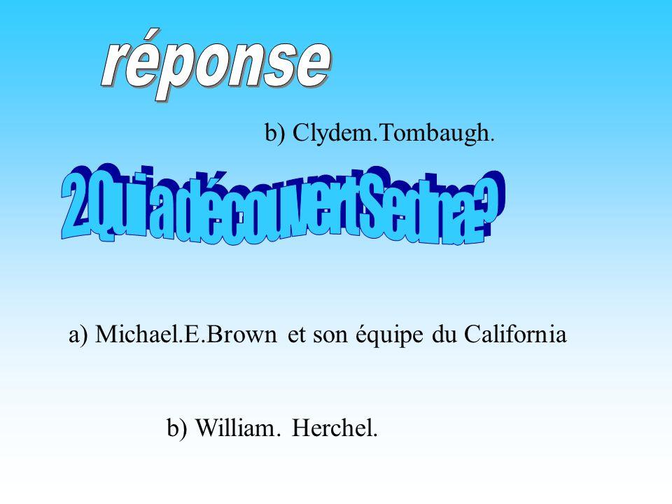 réponse 2.Qui a découvert Sedna b) Clydem.Tombaugh.