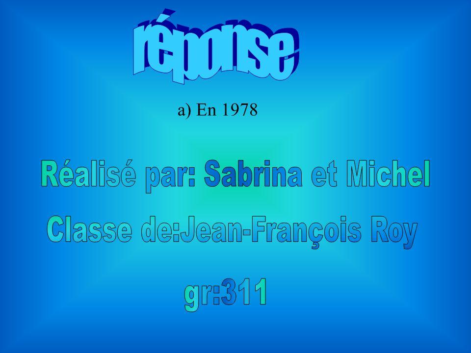 Réalisé par: Sabrina et Michel