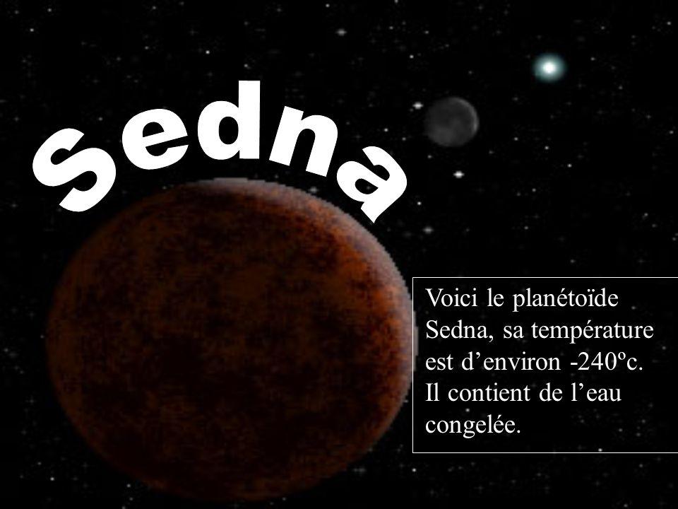 Sedna Voici le planétoїde Sedna, sa température est d'environ -240ºc.