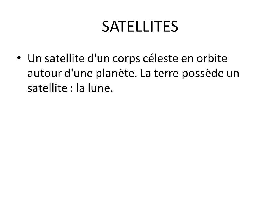 SATELLITES Un satellite d un corps céleste en orbite autour d une planète.