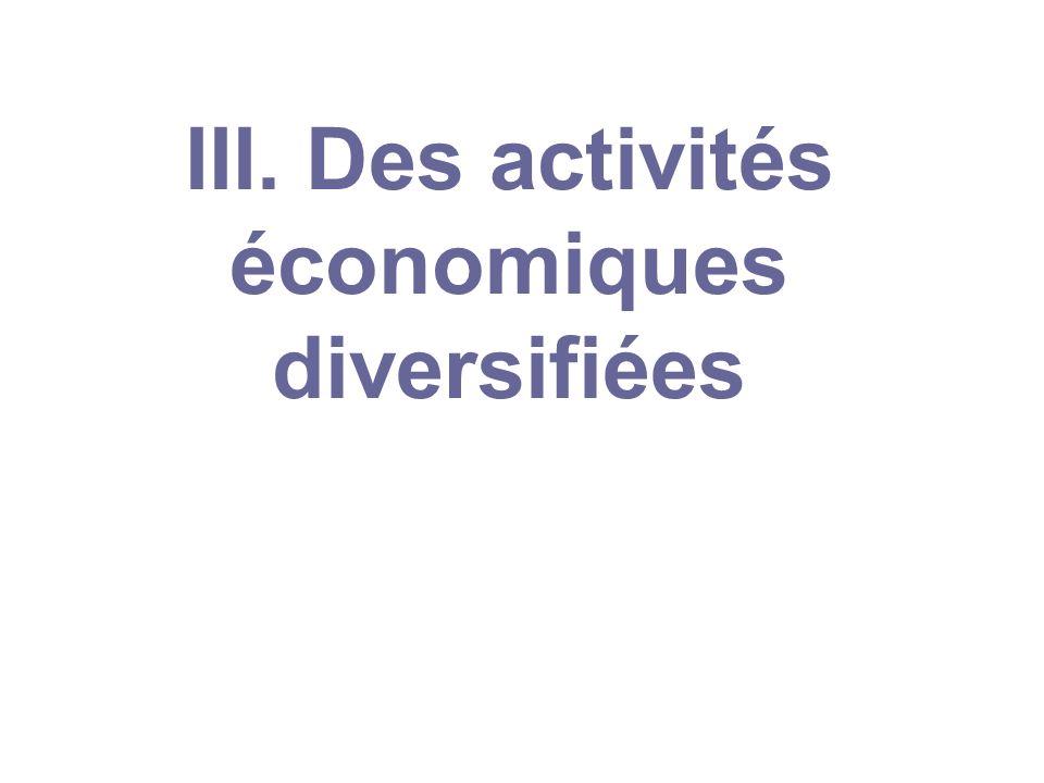 III. Des activités économiques diversifiées