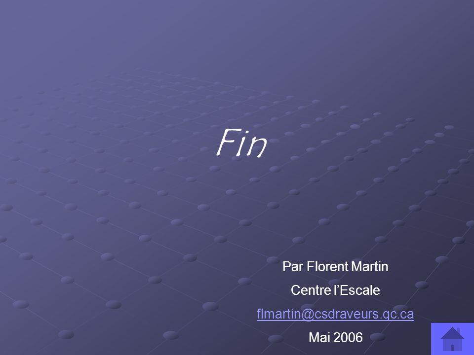 Fin Par Florent Martin Centre l'Escale flmartin@csdraveurs.qc.ca