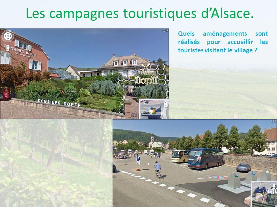 Les campagnes touristiques d'Alsace.