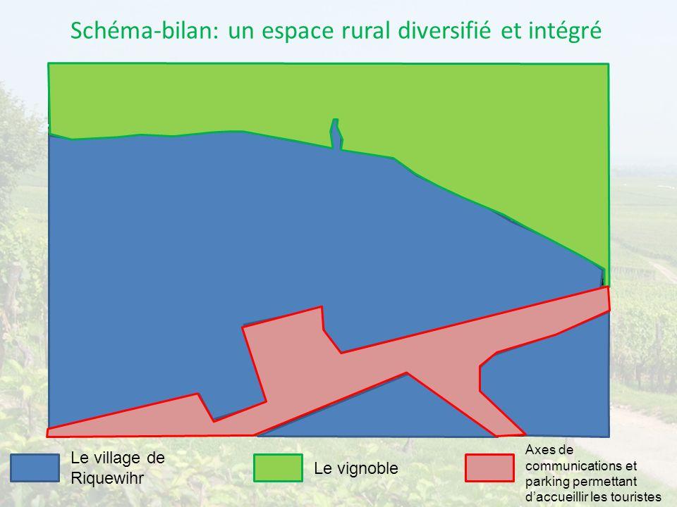 Schéma-bilan: un espace rural diversifié et intégré
