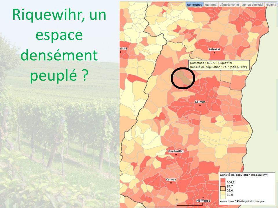 Riquewihr, un espace densément peuplé