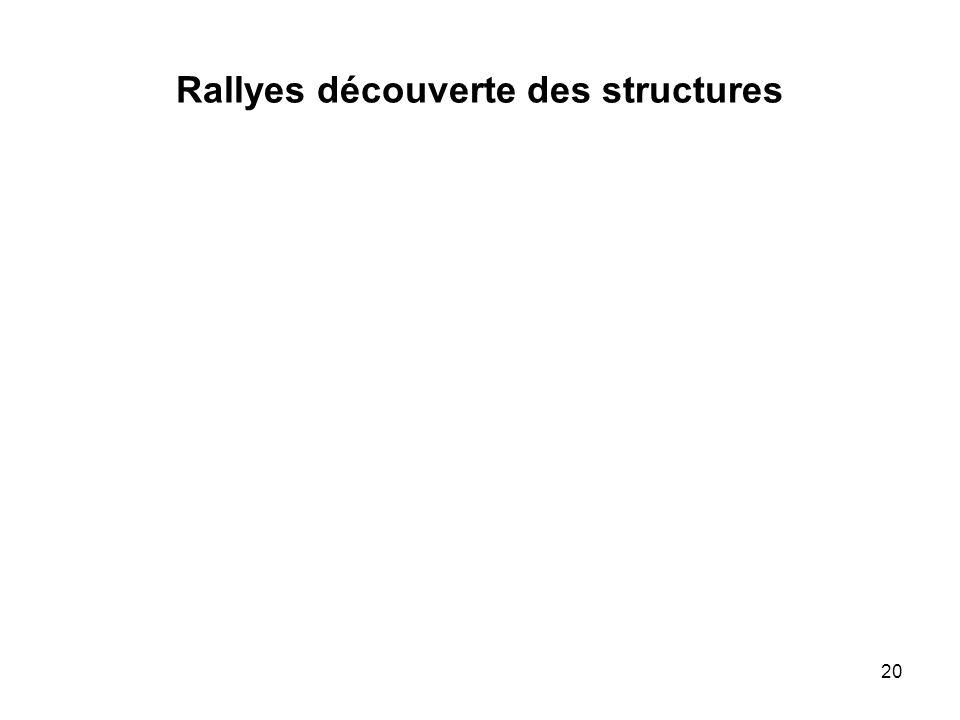 Rallyes découverte des structures