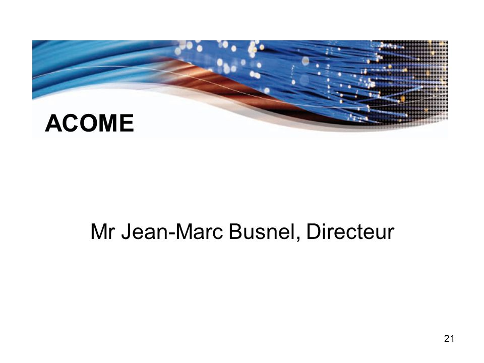 Mr Jean-Marc Busnel, Directeur