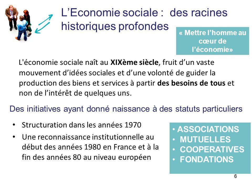 L'Economie sociale : des racines historiques profondes