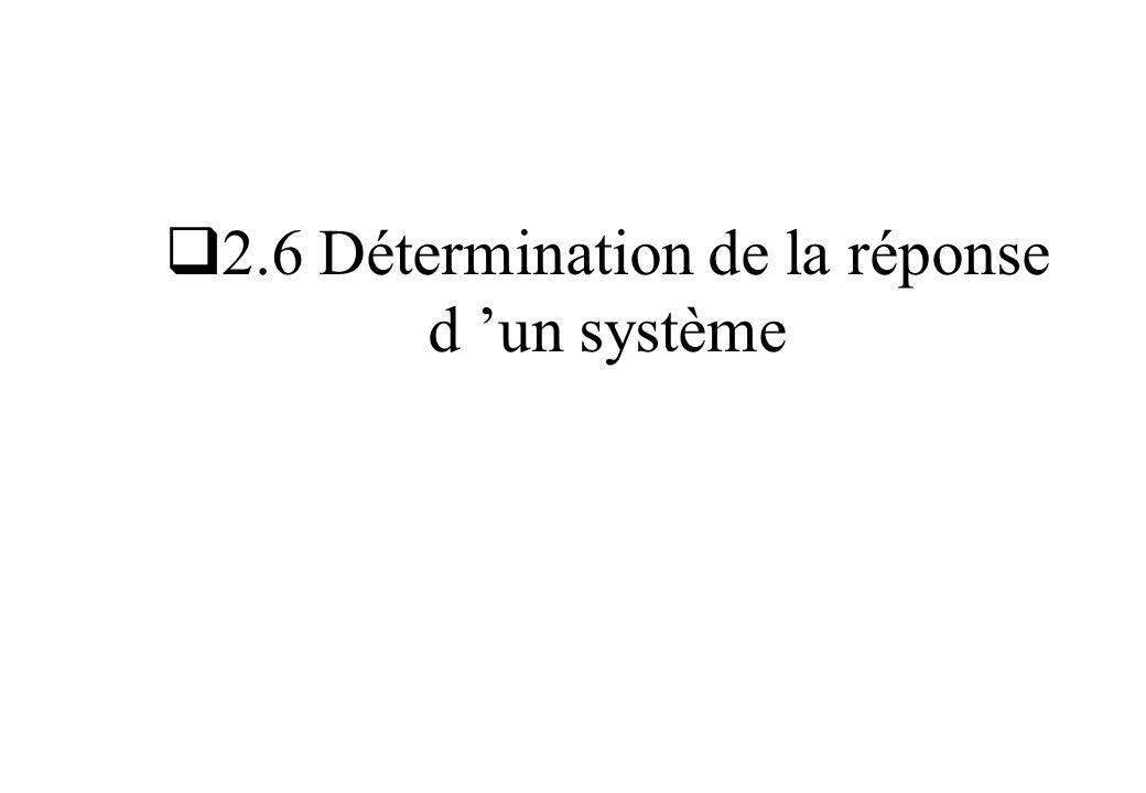 2.6 Détermination de la réponse d 'un système