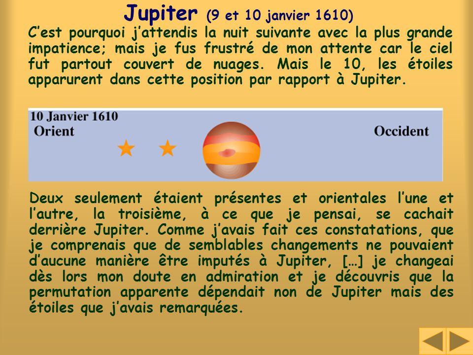 Jupiter (9 et 10 janvier 1610)