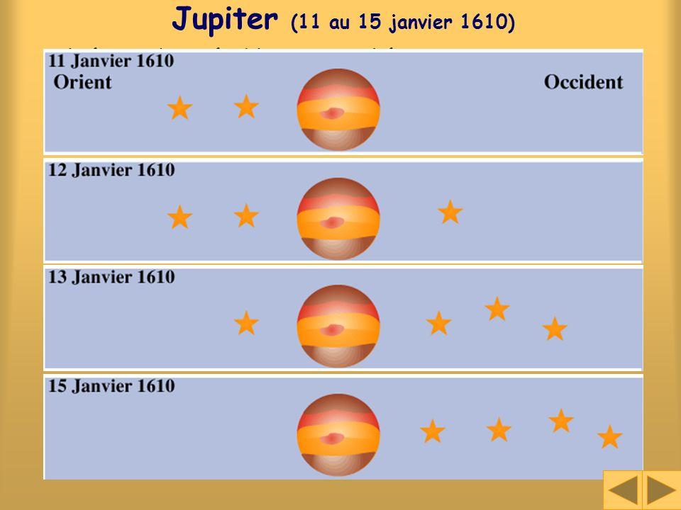 Jupiter (11 au 15 janvier 1610)