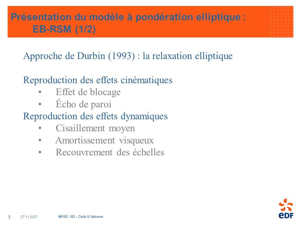Présentation du modèle à pondération elliptique : EB-RSM (1/2)