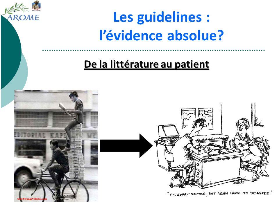 De la littérature au patient