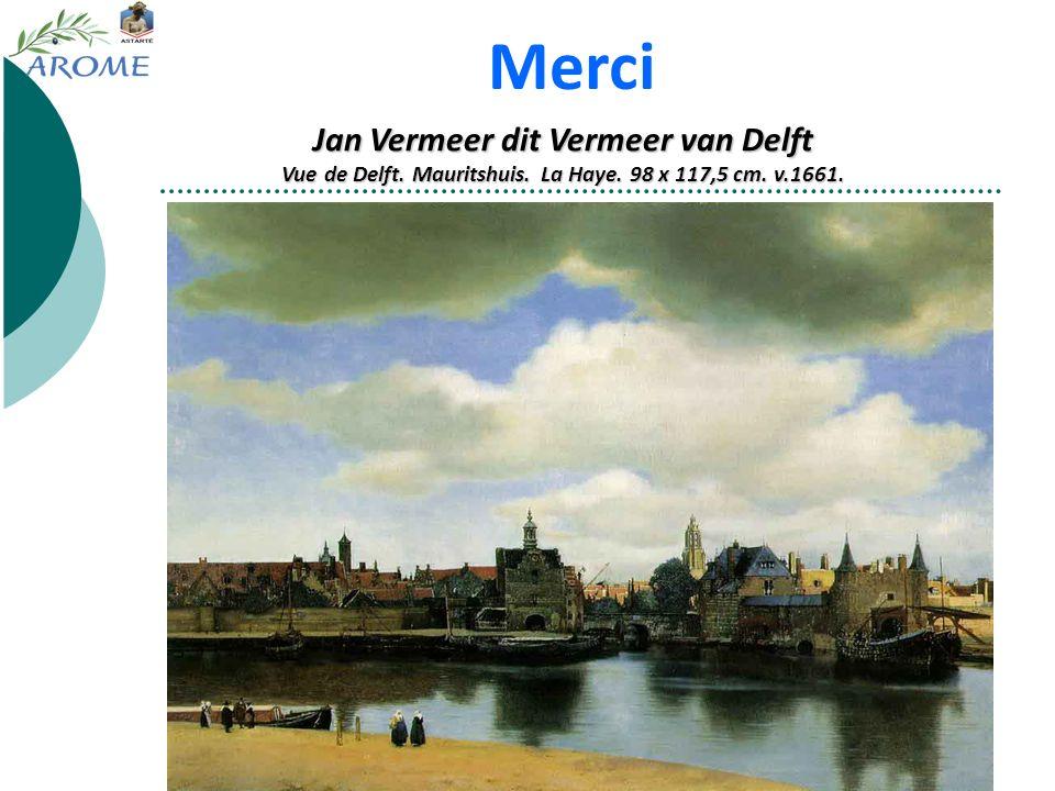 Merci Jan Vermeer dit Vermeer van Delft Vue de Delft.