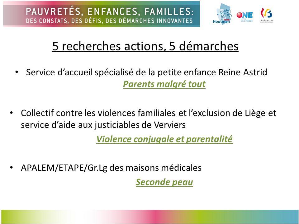 5 recherches actions, 5 démarches