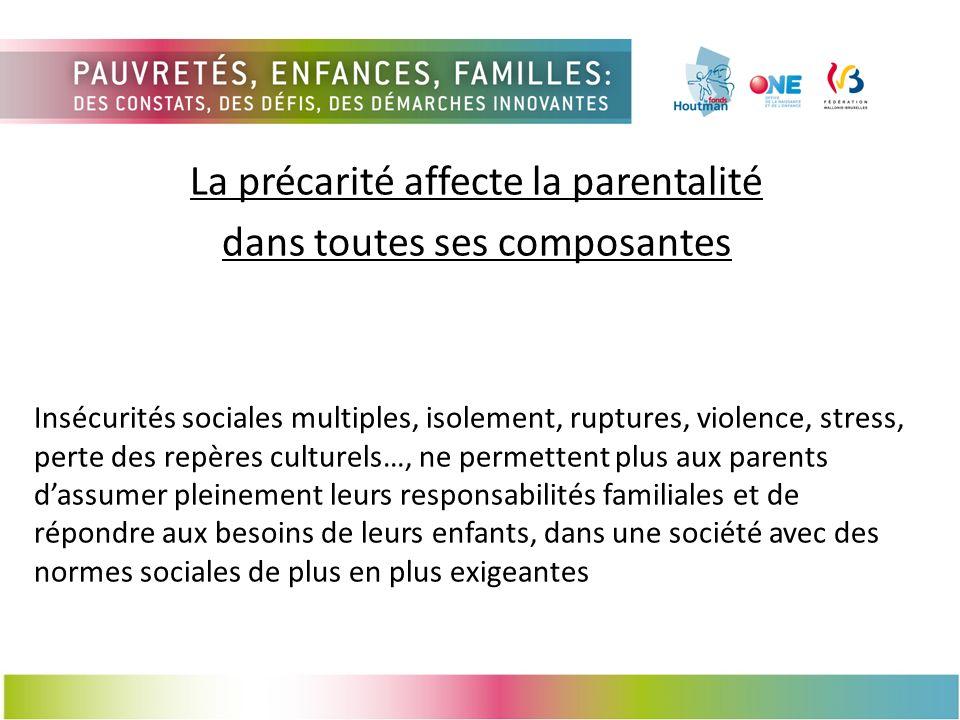 La précarité affecte la parentalité dans toutes ses composantes