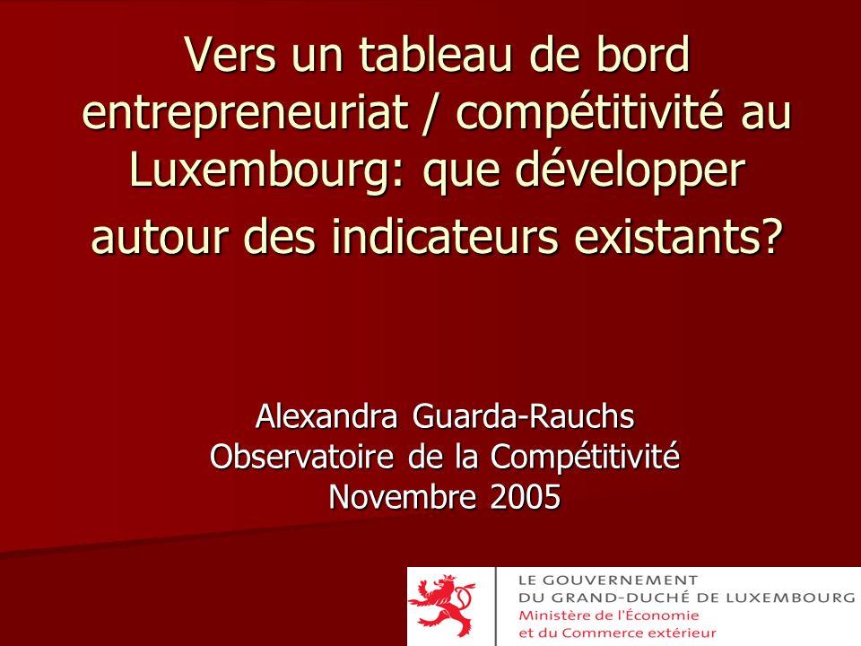 Alexandra Guarda-Rauchs Observatoire de la Compétitivité Novembre 2005