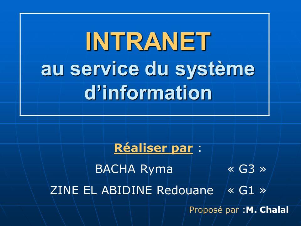 INTRANET au service du système d'information