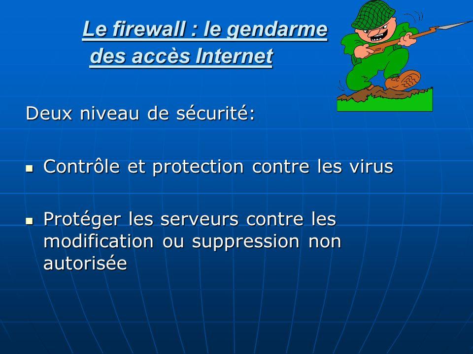 Le firewall : le gendarme des accès Internet