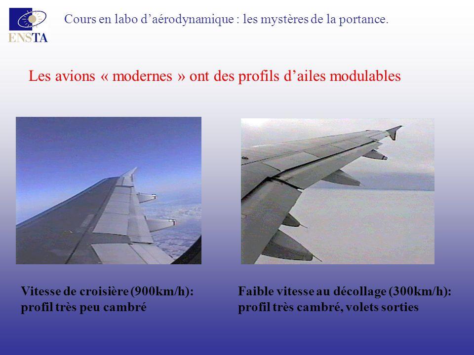 Les avions « modernes » ont des profils d'ailes modulables