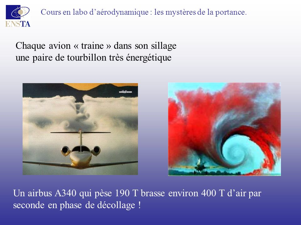 Chaque avion « traine » dans son sillage
