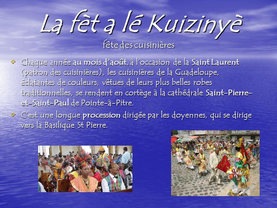 La fèt a lé Kuizinyè fête des cuisinières