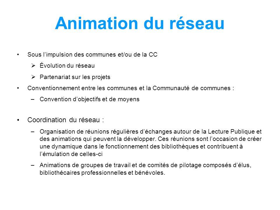 Animation du réseau Coordination du réseau :