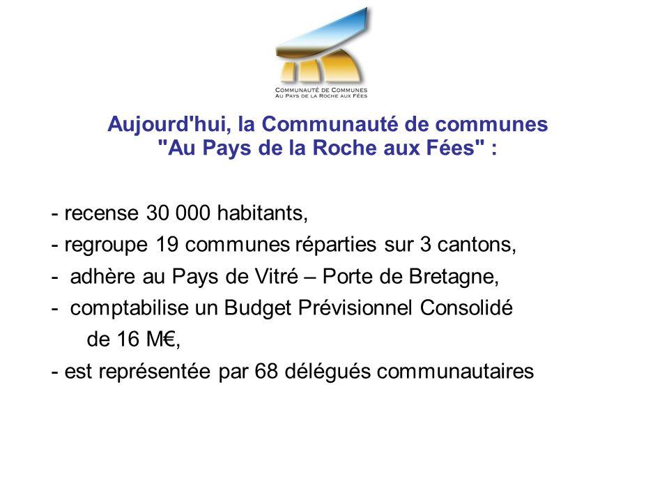 Aujourd hui, la Communauté de communes Au Pays de la Roche aux Fées :