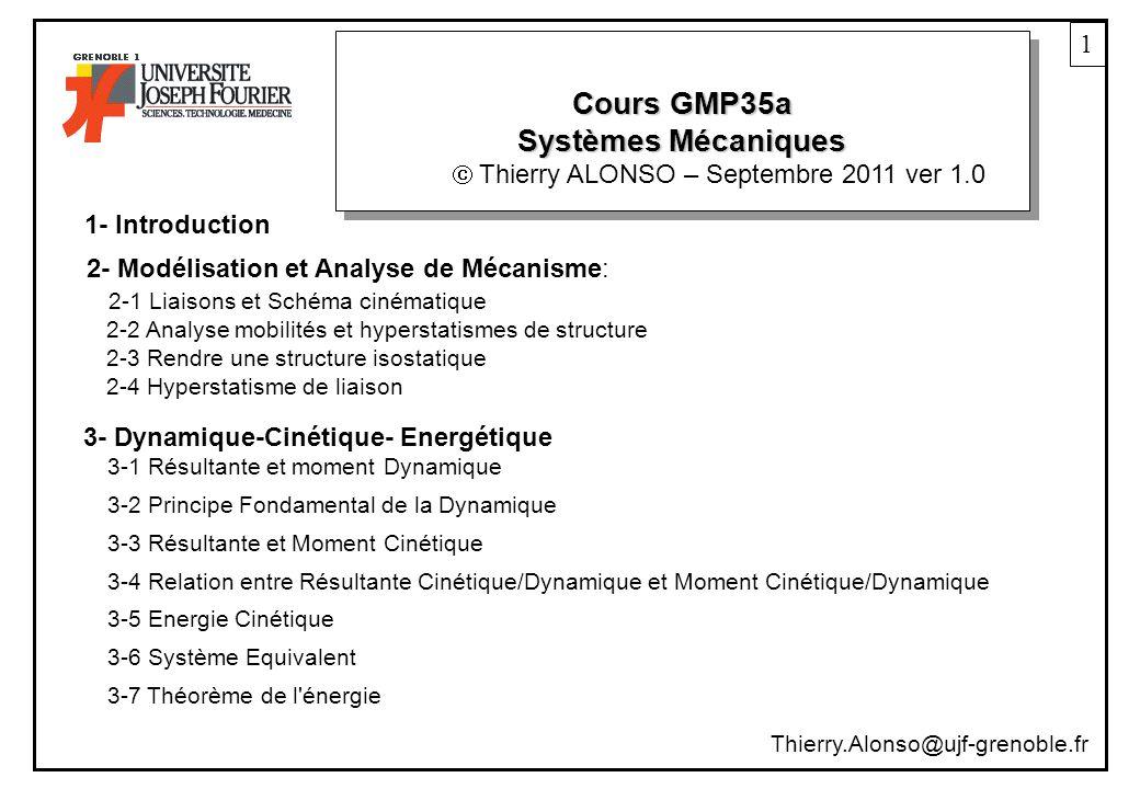 Cours GMP35a Systèmes Mécaniques