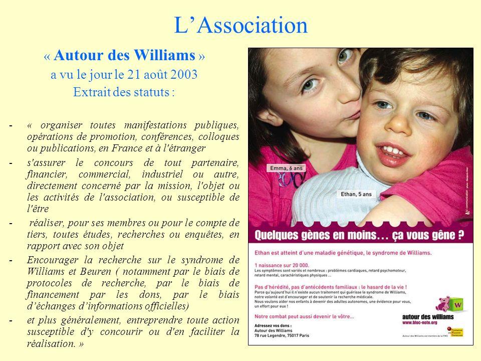 L'Association « Autour des Williams » a vu le jour le 21 août 2003