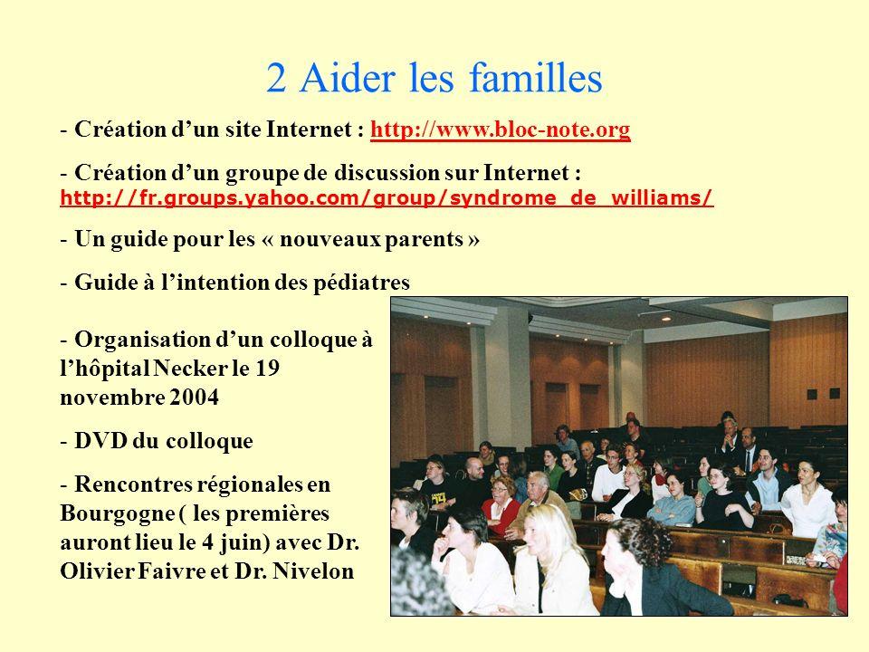 2 Aider les familles Création d'un site Internet : http://www.bloc-note.org.
