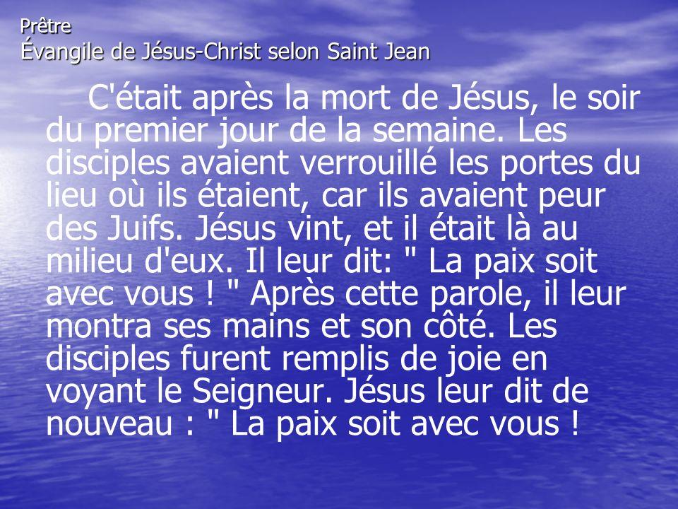 Prêtre Évangile de Jésus-Christ selon Saint Jean