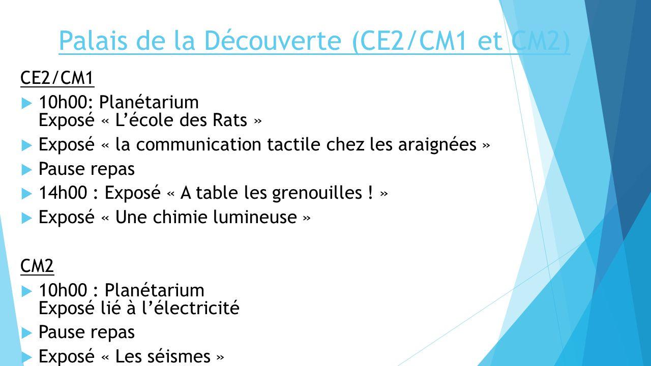 Palais de la Découverte (CE2/CM1 et CM2)