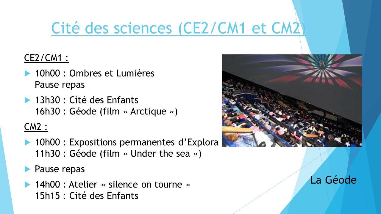 Cité des sciences (CE2/CM1 et CM2)
