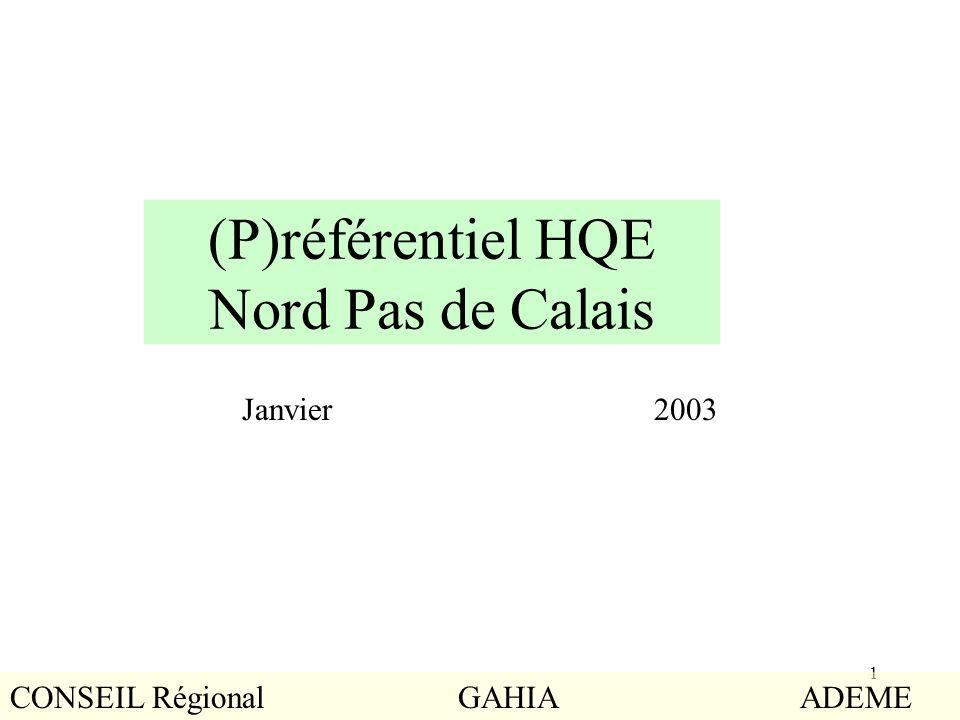 (P)référentiel HQE Nord Pas de Calais