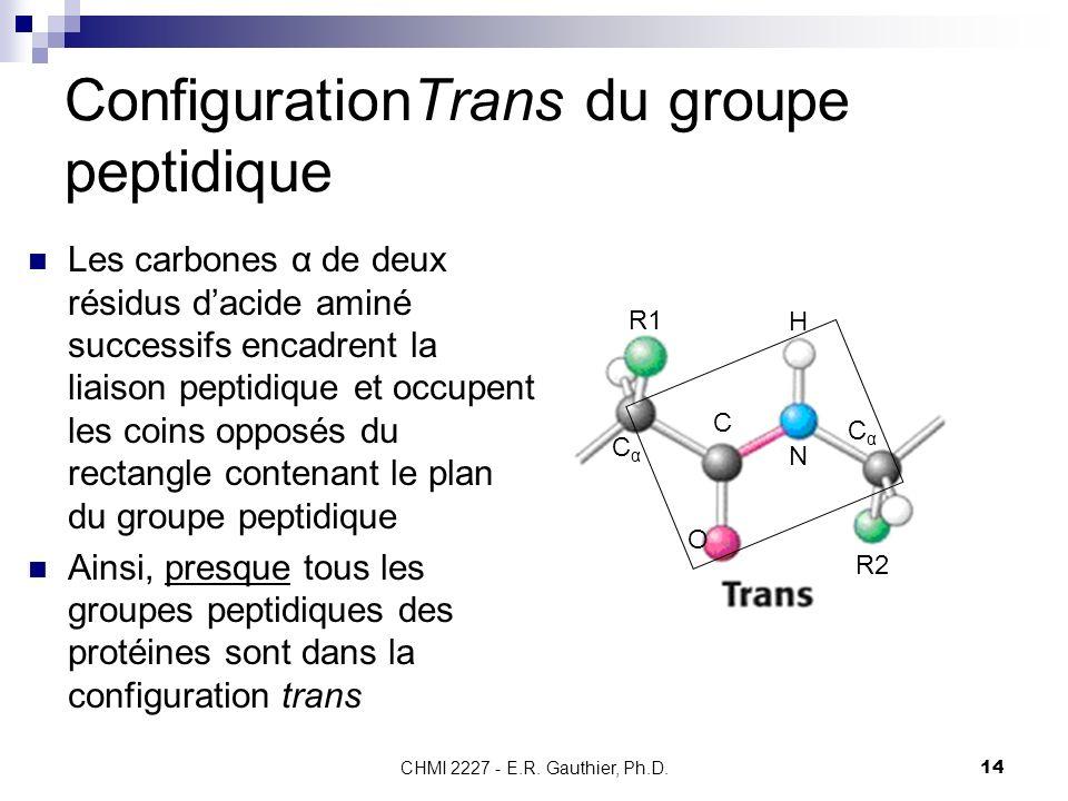 ConfigurationTrans du groupe peptidique