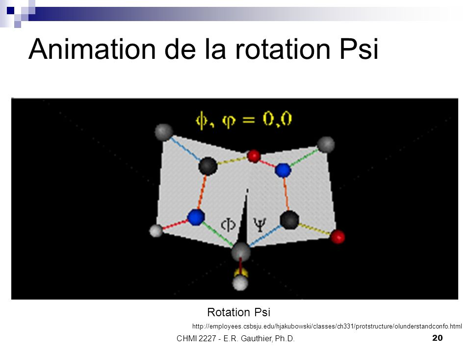 Animation de la rotation Psi