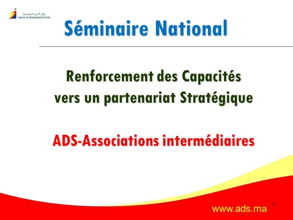 Séminaire National Renforcement des Capacités vers un partenariat Stratégique ADS-Associations intermédiaires
