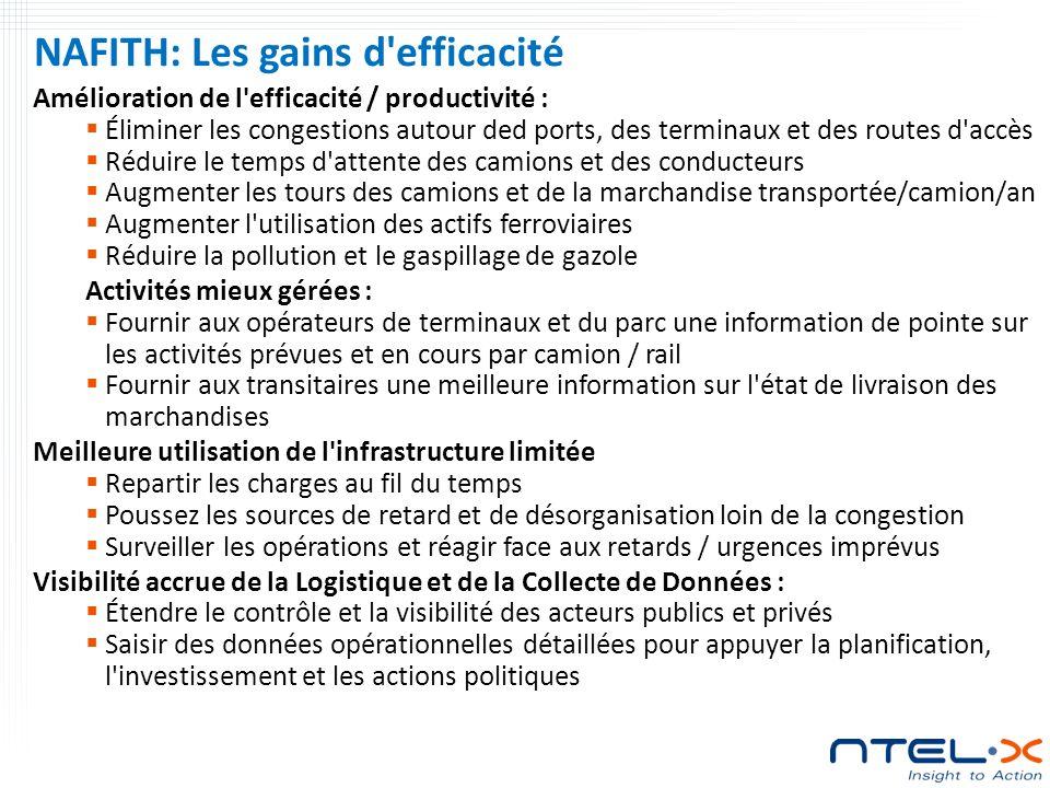 NAFITH: Les gains d efficacité