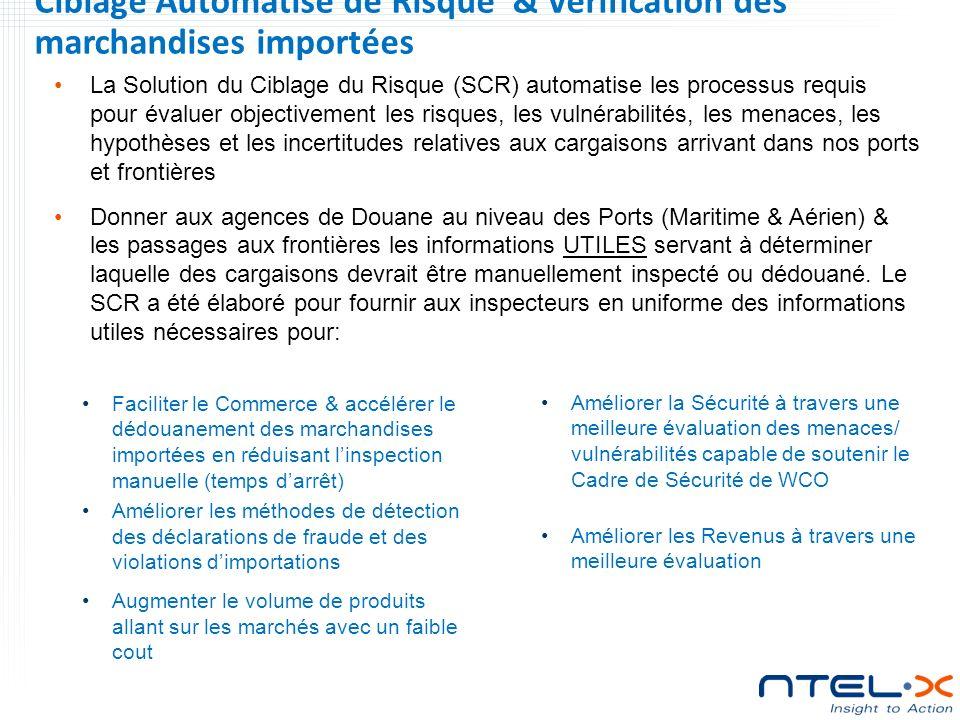 Ciblage Automatisé de Risque & Verification des marchandises importées