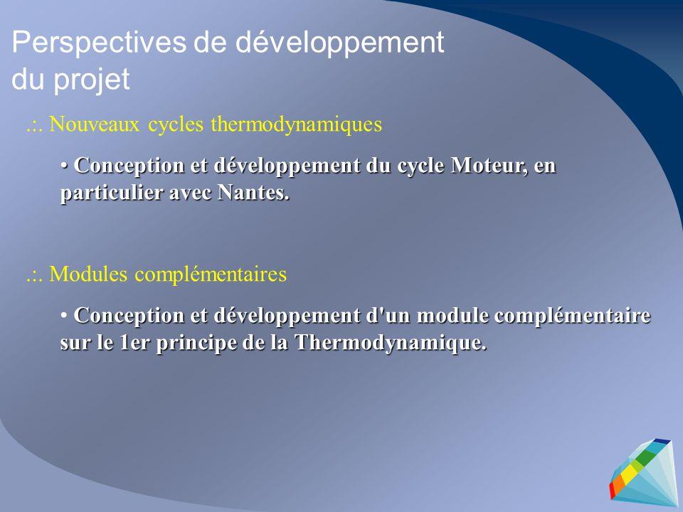 Perspectives de développement du projet