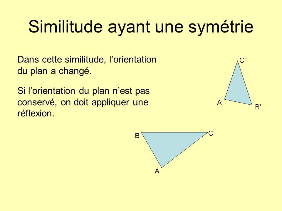 Similitude ayant une symétrie